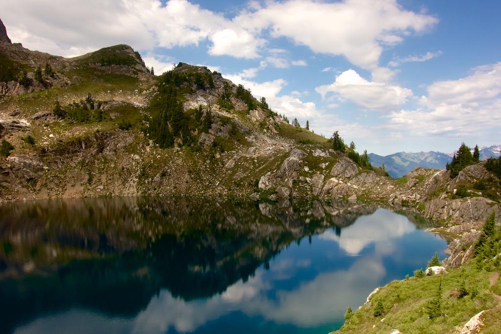 A good spot for a swim near Glacier Peak. Washington State