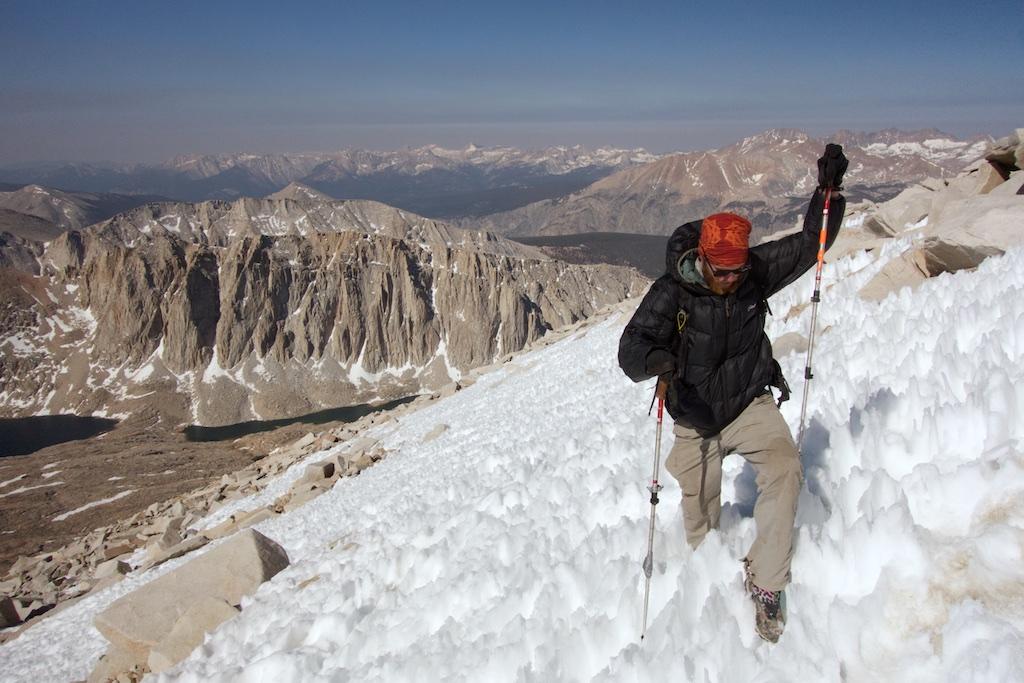 Summiting Mount Whitney. High Sierra, California