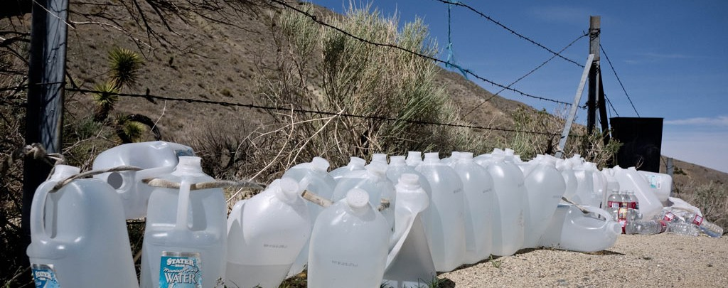 A water cache on the Pacific Crest Trail.