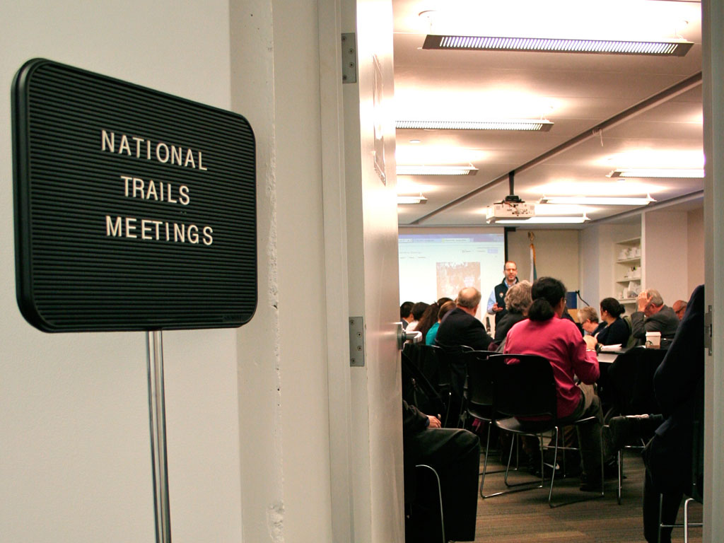 Trail organization representatives and National Park Service (NPS) representatives discuss youth engagement and the future of our national trails at the NPS Headquarters.