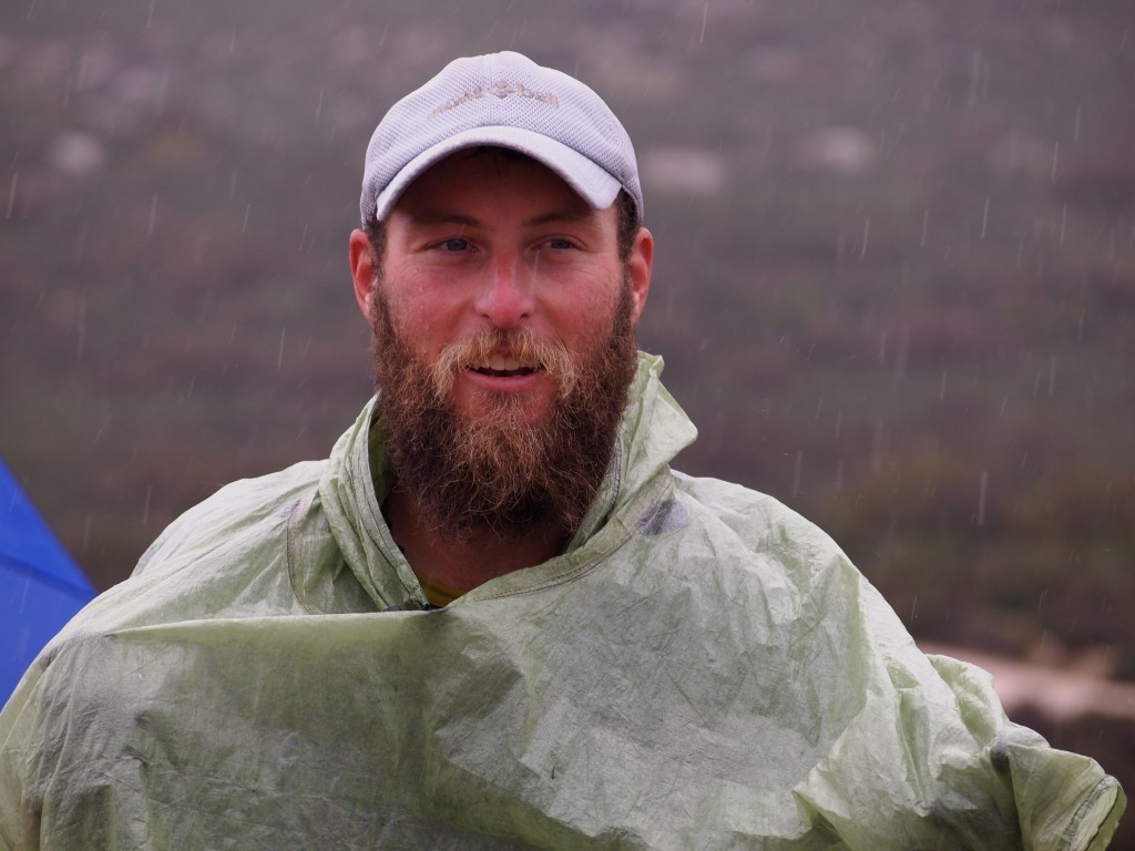 "Shawn ""Pepper"" Forry with rain coming down near Campo, Calif. Photo: Pea Hicks"