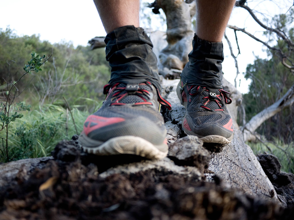 Trail running on the Pacific Crest Trail.
