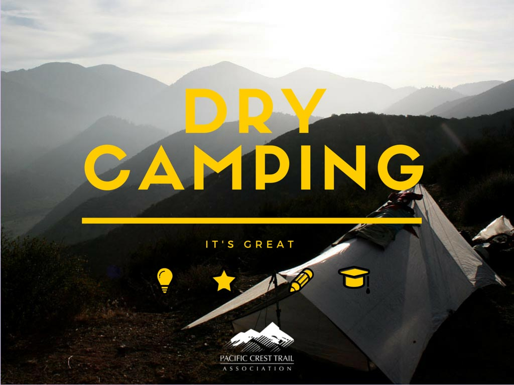 Carry a little bit of water away from the water source. Dry camping is a fantastic Leave No Trace tactic and it frees you up to find some stunning camp spots.