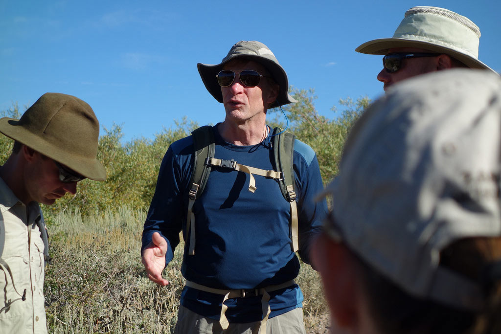 Dr. Jeff Marion, Recreation Ecologist, talks to PCTA, U.S. Forest Service and National Park Service staff about the scientific approach towards managing visitor's impacts on protected natural places like the PCT.