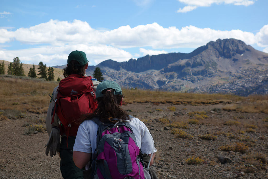 Hiking out on day three of an interesting week-long training. Photos by Jack Haskel.