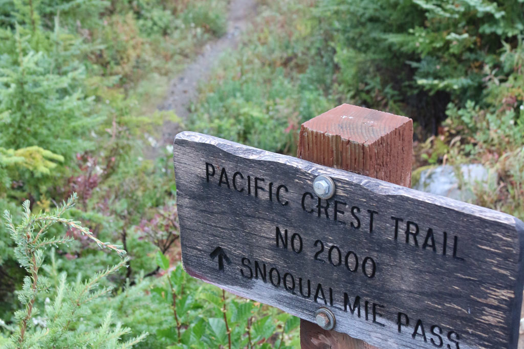 A sign guides the way at the road crossing at Windy Pass.