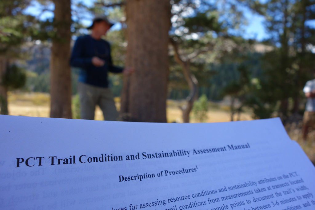 A proposed framework for assessing and monitoring the quality and sustainability of a portion of trail tread on the PCT. We tested it out.
