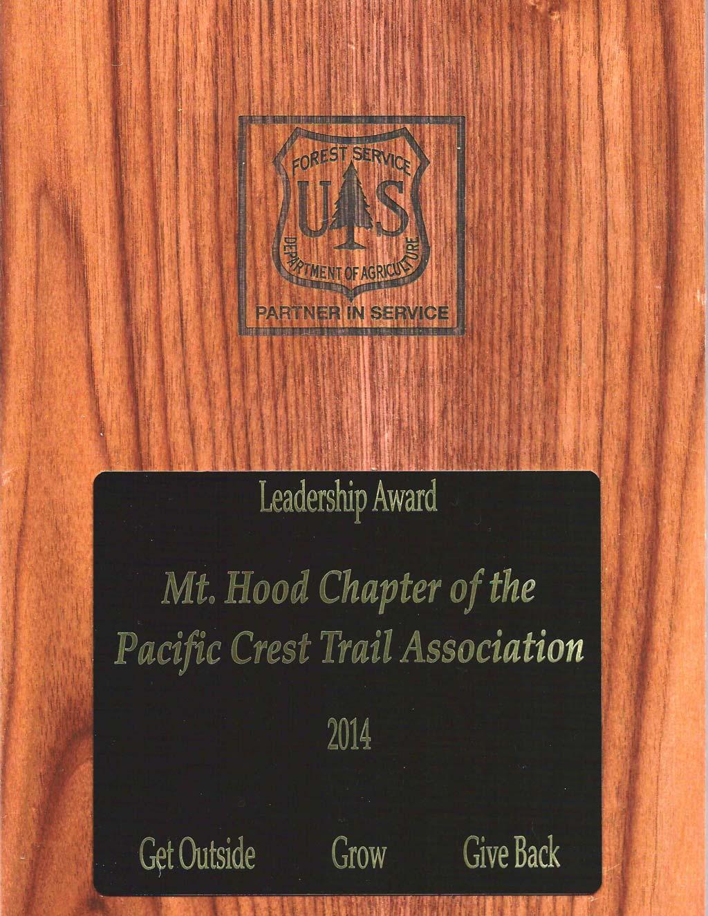 Forest Service Volunteers & Service Leadership Award