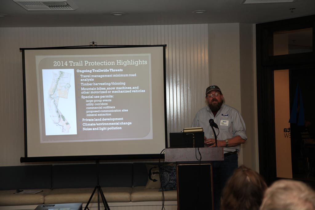 Mike Dawson giving an overview of some of our recent trail protection activities.