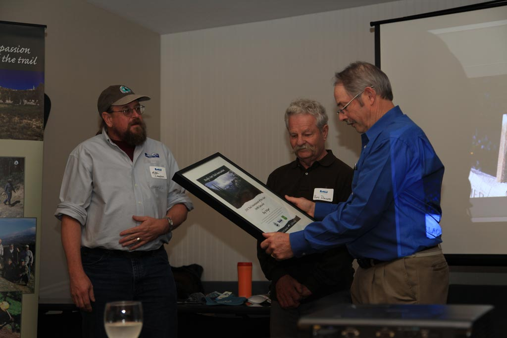 Ray Delger receives the Regional Trail Maintainer of the Year Award.