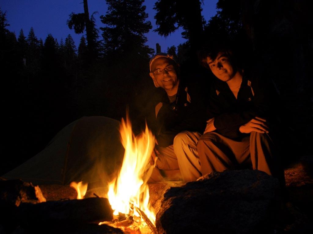Pacific Crest Trail campfire