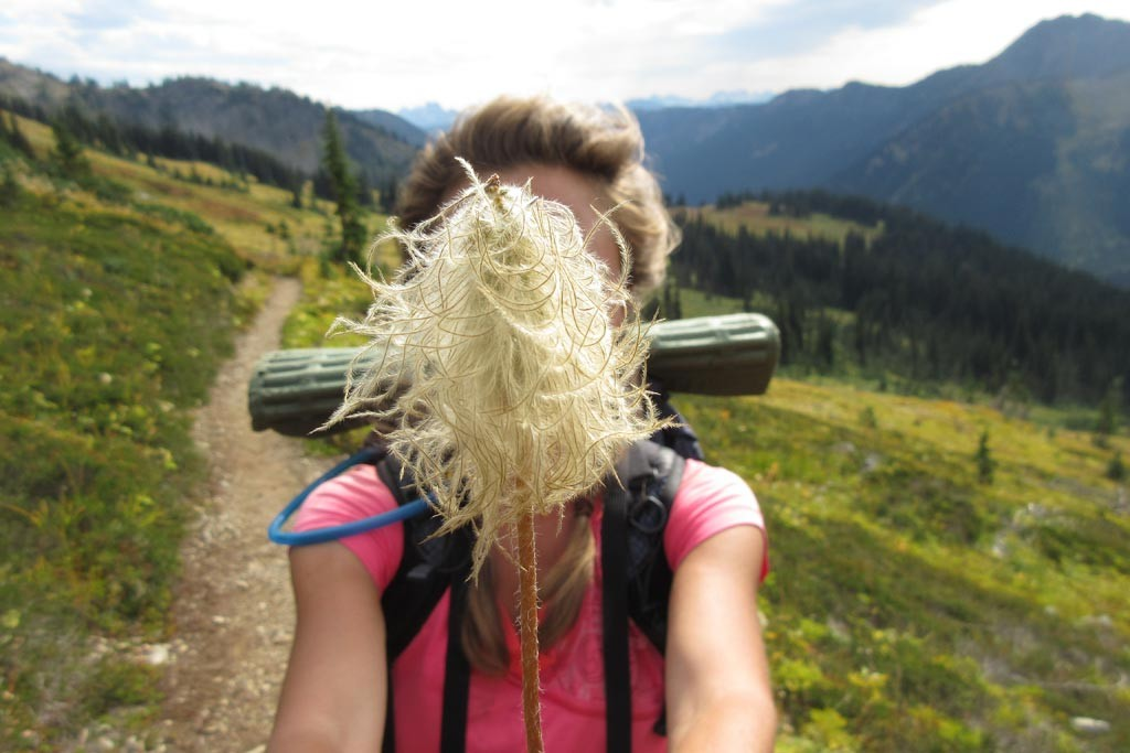 Female Pacific Crest Trail thru-hiker