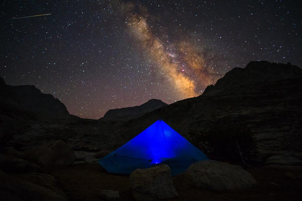 Camp below Mt. Gabb.