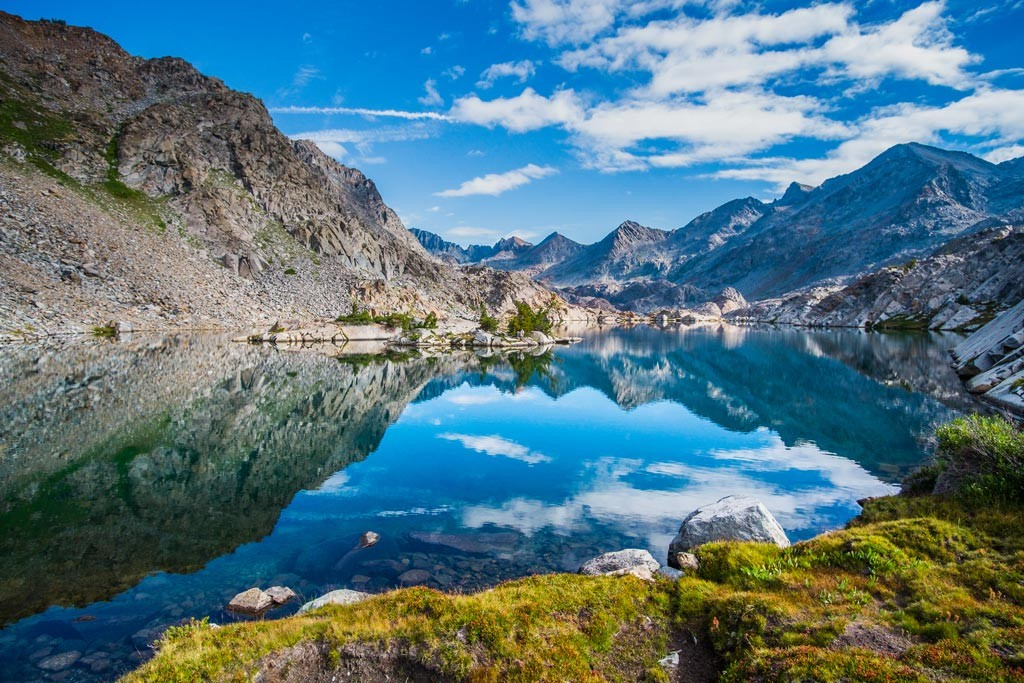Twin Island Lakes, Sierra Nevada.