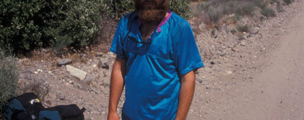 Charles Williams on his Pacific Crest Trail thru-hike.