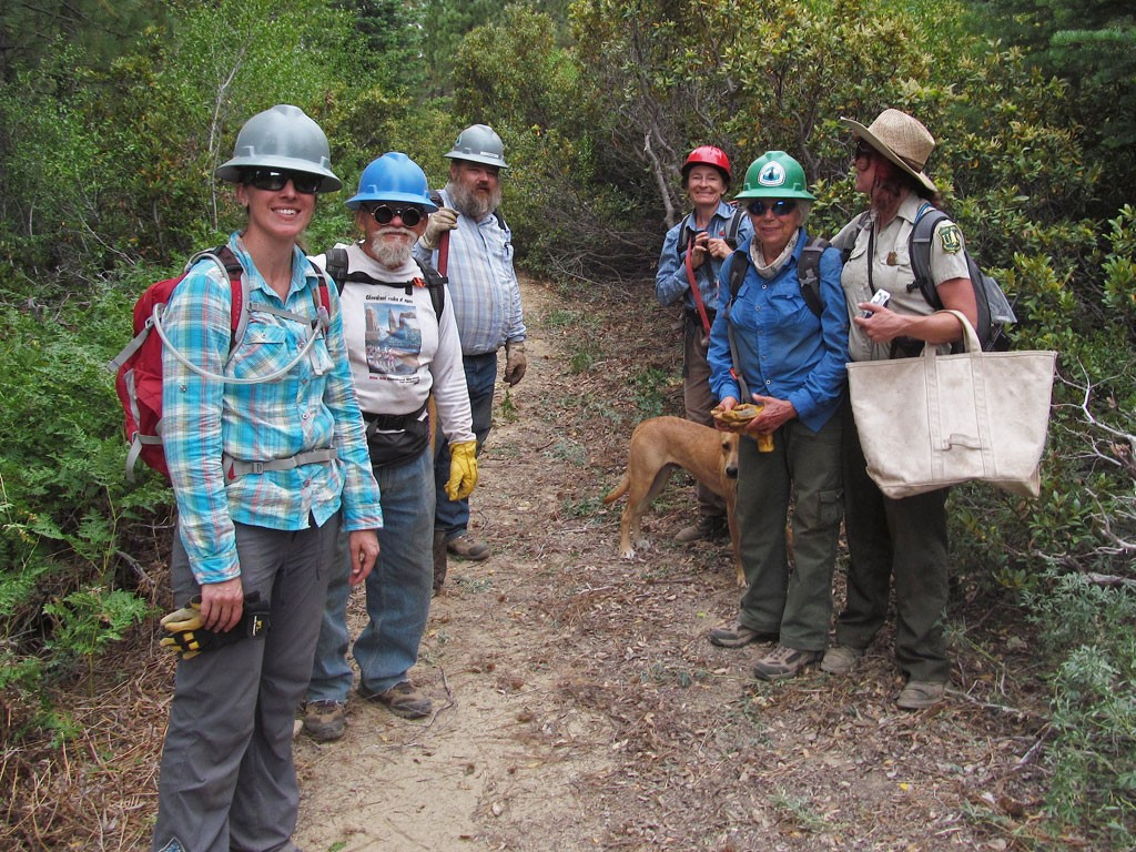 Some of the Pounder's Promise crew on the section of PCT that they steward.