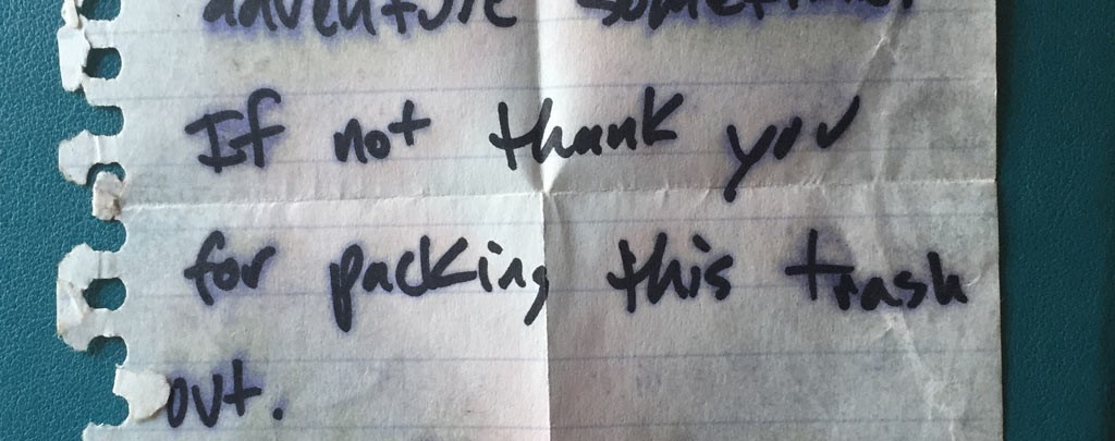 The Pacific Crest Trail love note.