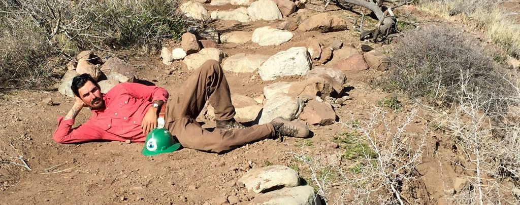 Ben Barry relaxing on the PCT.