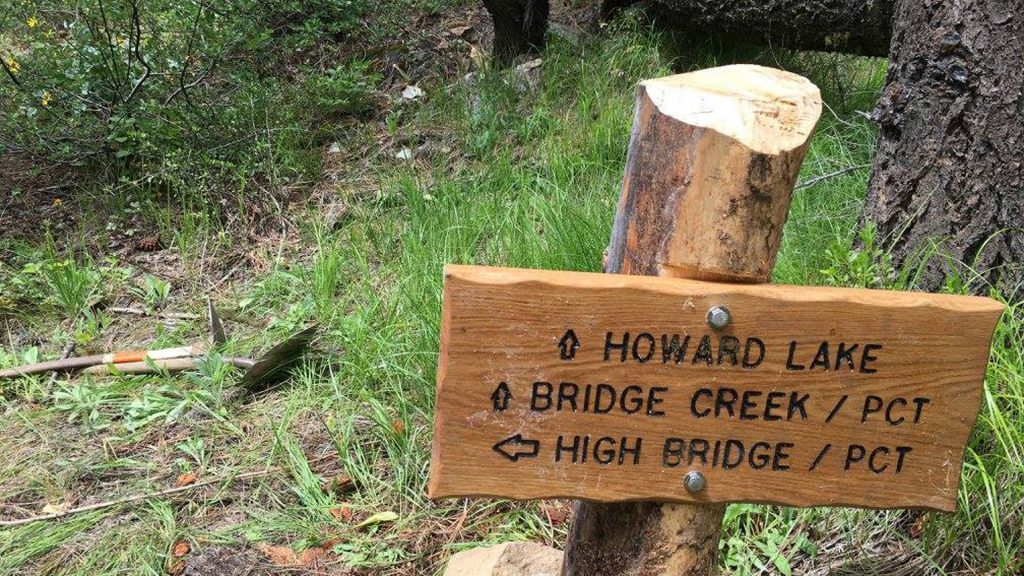 Howard-Lake-Sign-high-bridge-pacific-crest-trail