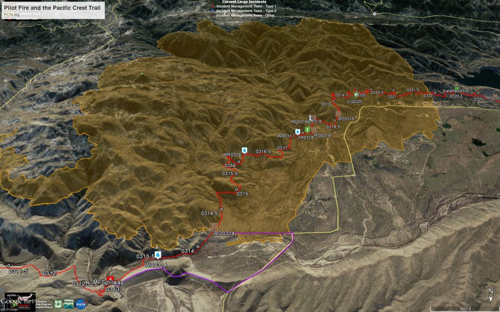 Pilot Fire and the Pacific Crest Trail
