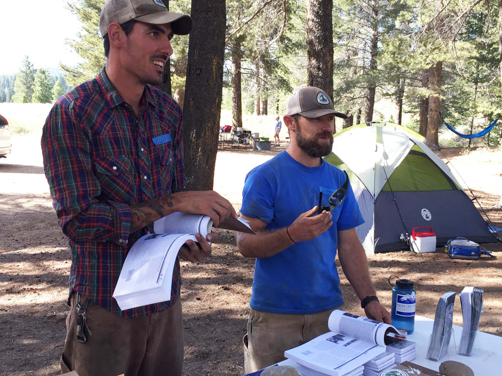 Ben Barry and fellow PCTA Technical Advisor, Connor Swift talk about building trails.