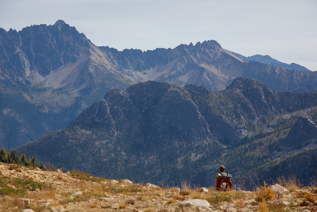 Rugged mountains on the Pacific Crest Trail