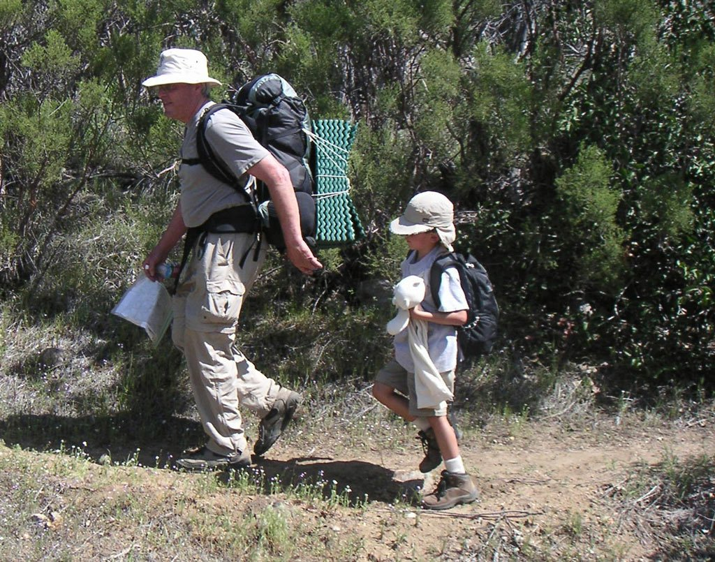 Backpacking with kids in southern California on the PCT.