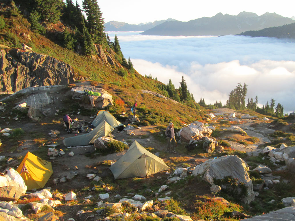 One of many memorable campsites from my time on the Pacific Crest Trail.