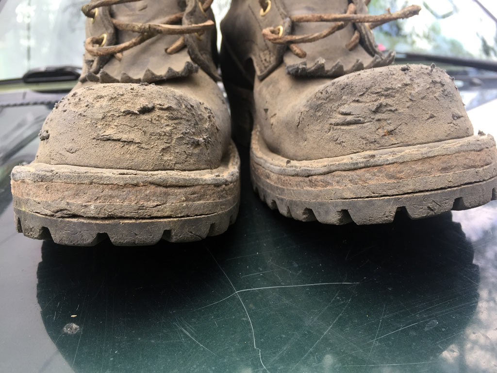 Despite the soles being literally screwed onto the bottom of the boot, they continue to separate.