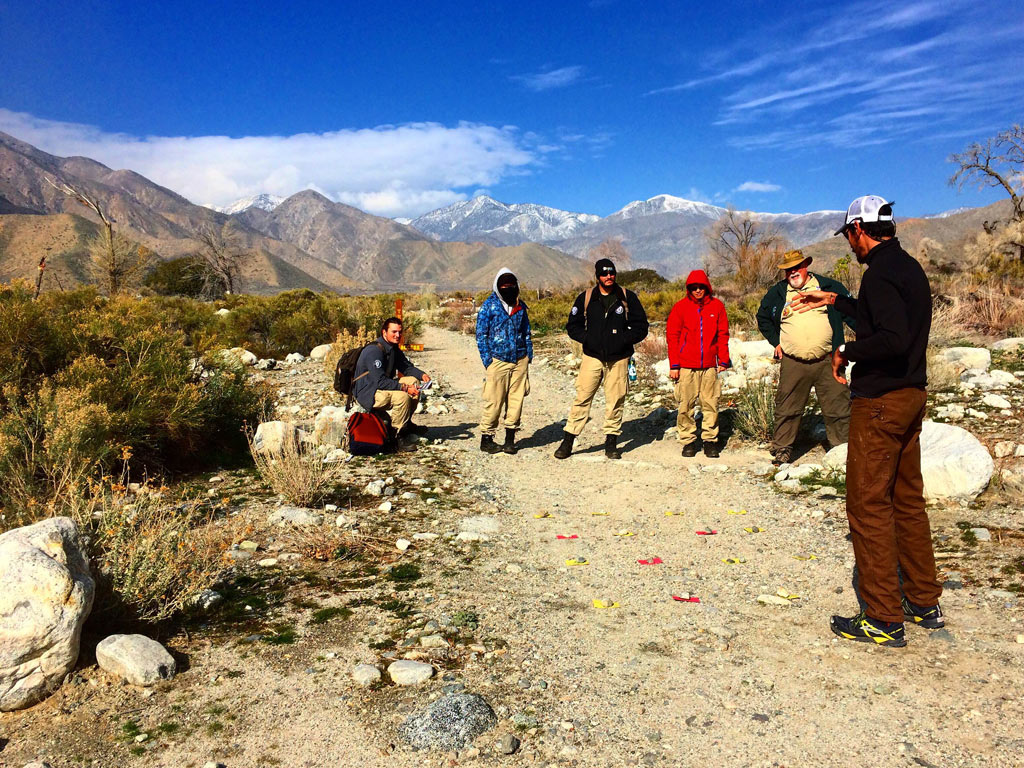 Leave no trace training before starting trail work. Photo by Sophia Efremov.