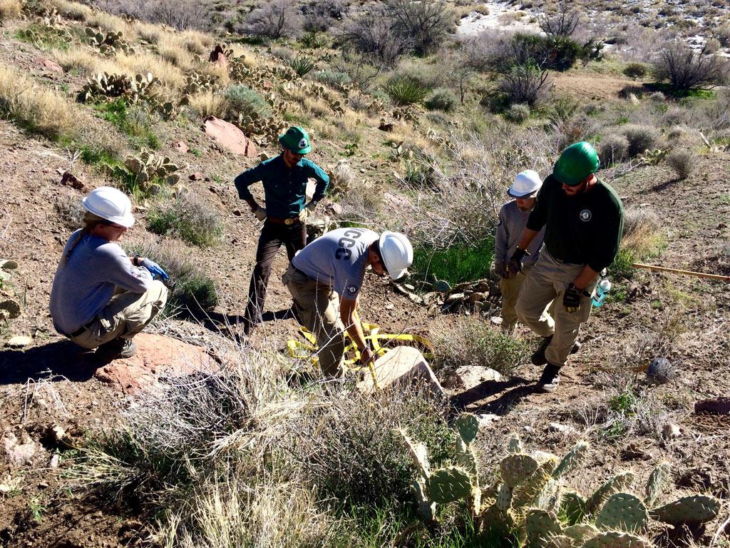 Teaching corp crews how to bring big rocks uphill. Photo by Sophia Efremov.