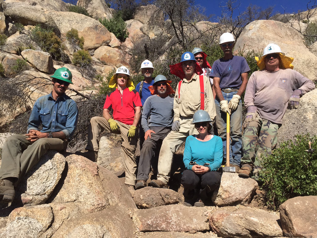Students from this October's 300 Rock Retaining Walls class in southern California– by Connor Swift