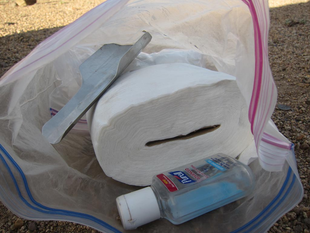 Packing out your toilet paper is totally not a big deal.