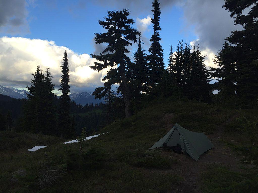 My camp four miles north of Milk Creek.