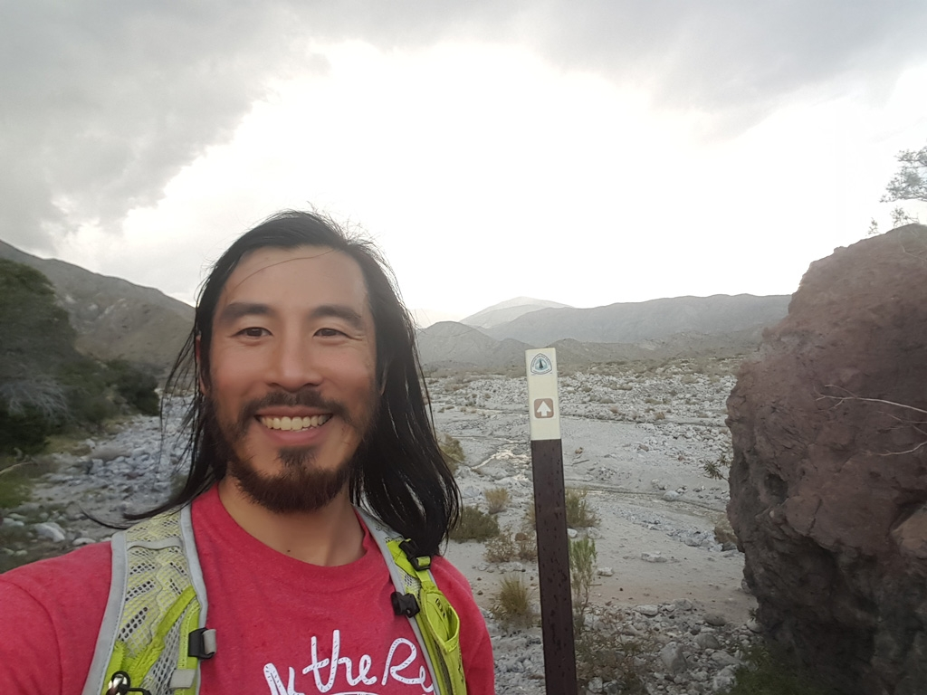 Tyler Lau at home on the PCT in Southern California.