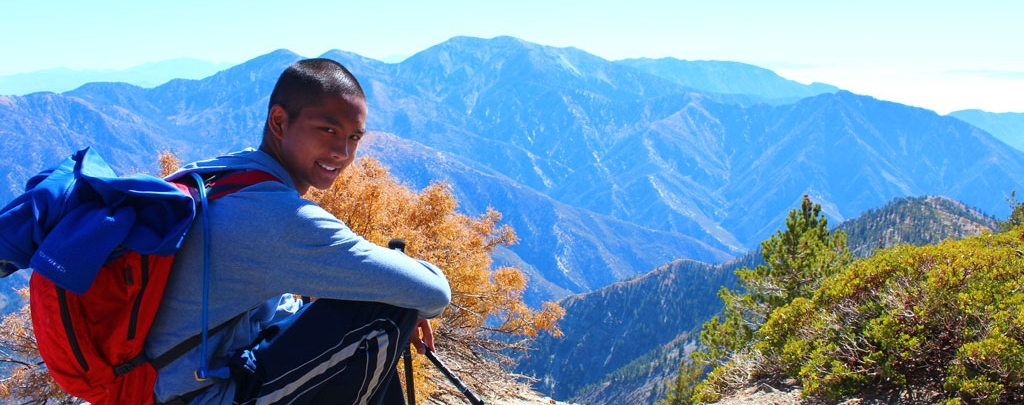 Kyle Ignacio on Mount Baden Powell. Photo by Mara Geraldine Ignacio.