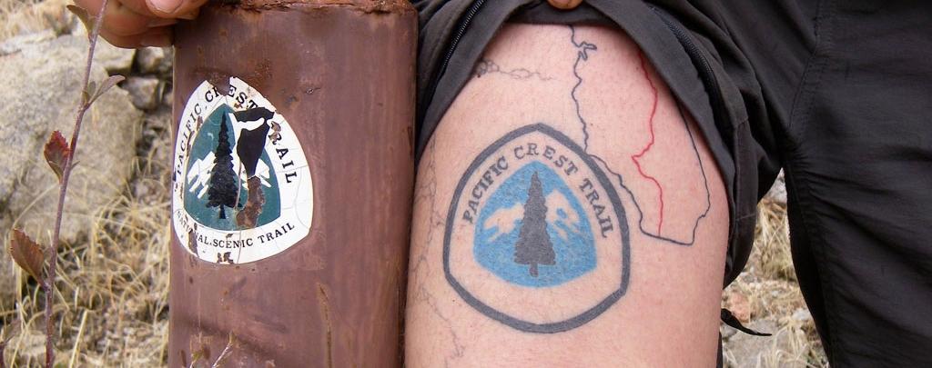 Lint's Pacific Crest Trail tattoo.