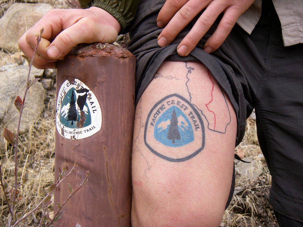 Lint's Pacific Crest Trail tattoo.