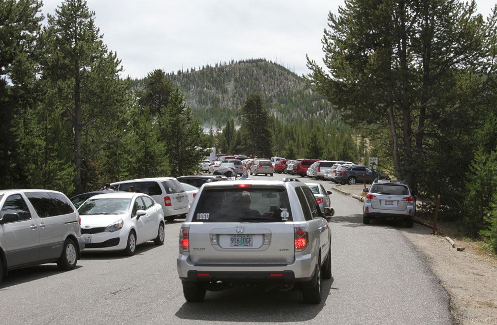Parking lots will be beyond full and there will be extensive enforcement. Photo by Jim Peaco/NPS