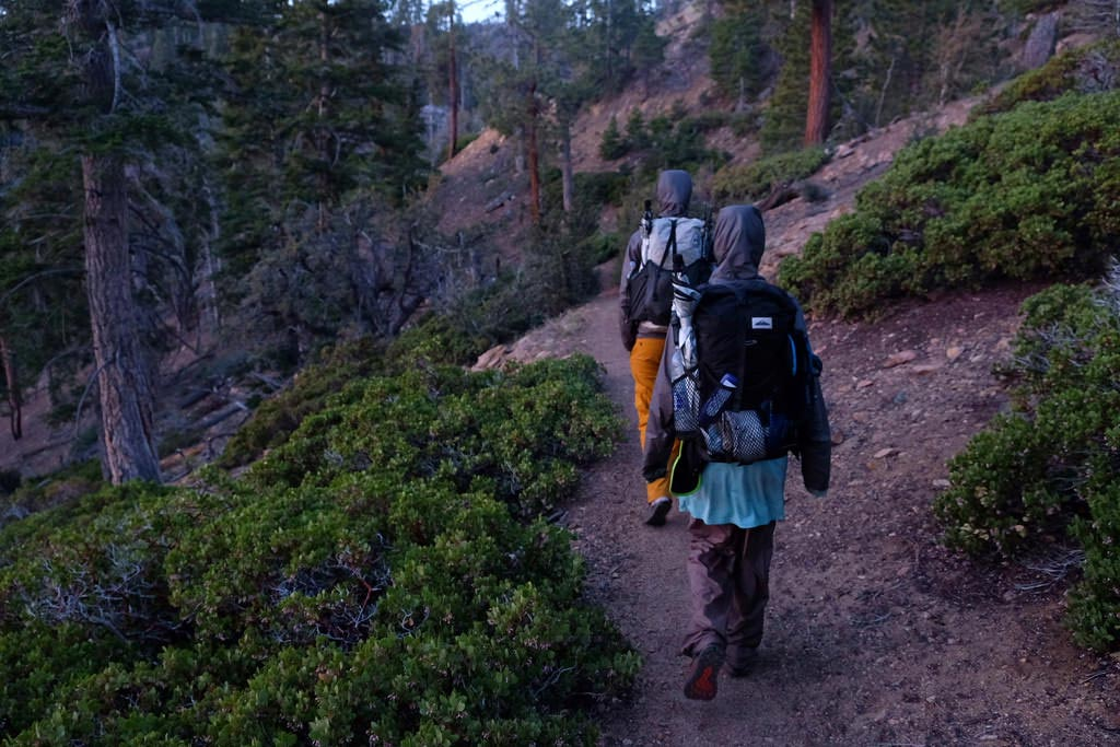 Pacific Crest Trail thru-hikers head north in May 2017. Photo by Owen Rojek