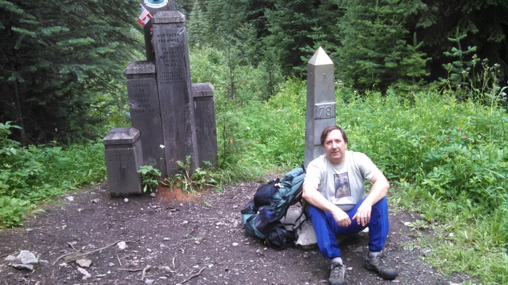 Eric Ryback at the PCT's northern terminus.