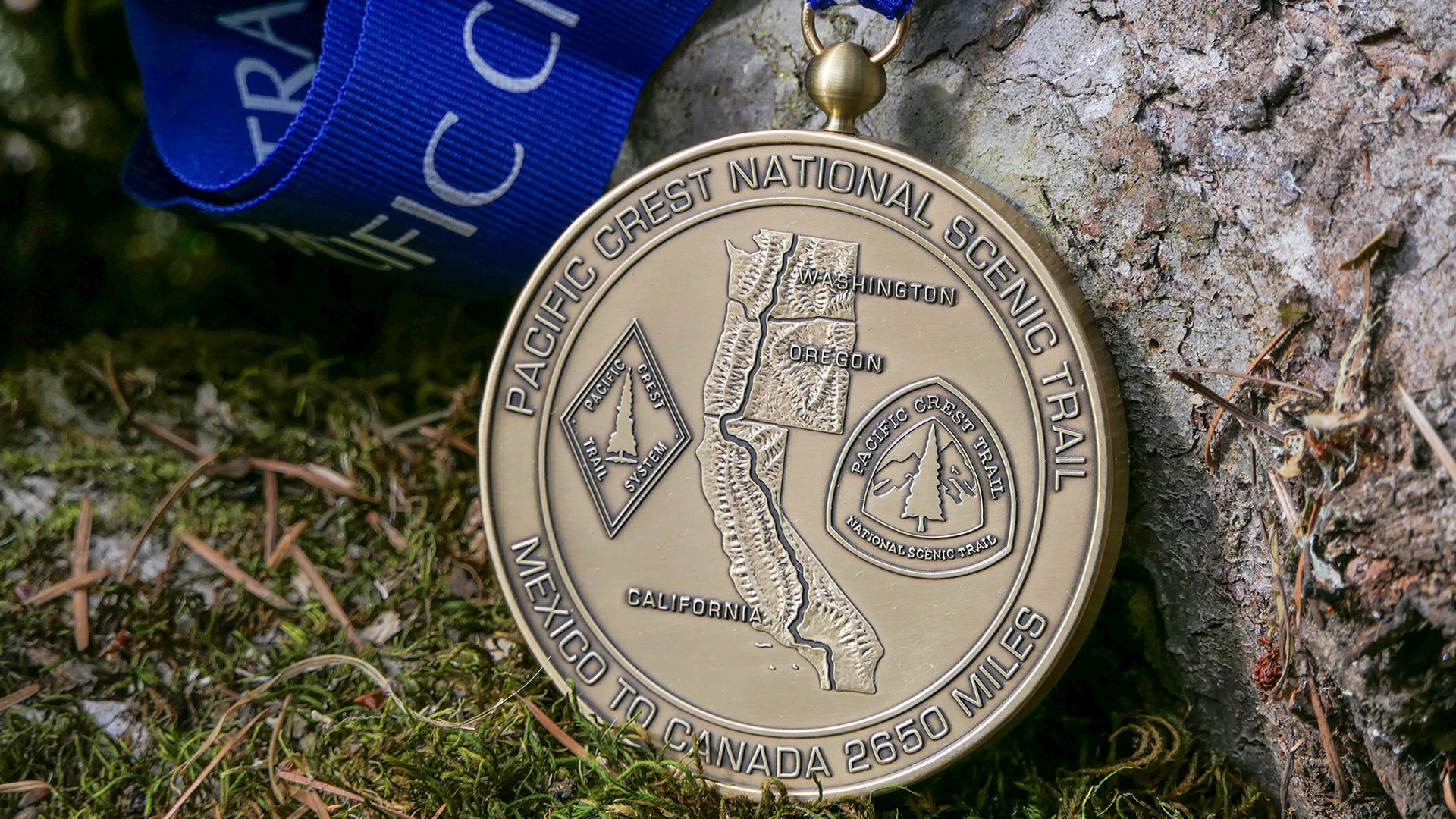 The PCT medal. Once you're a 2600 miler, you can get this beautiful PCT completion medal.