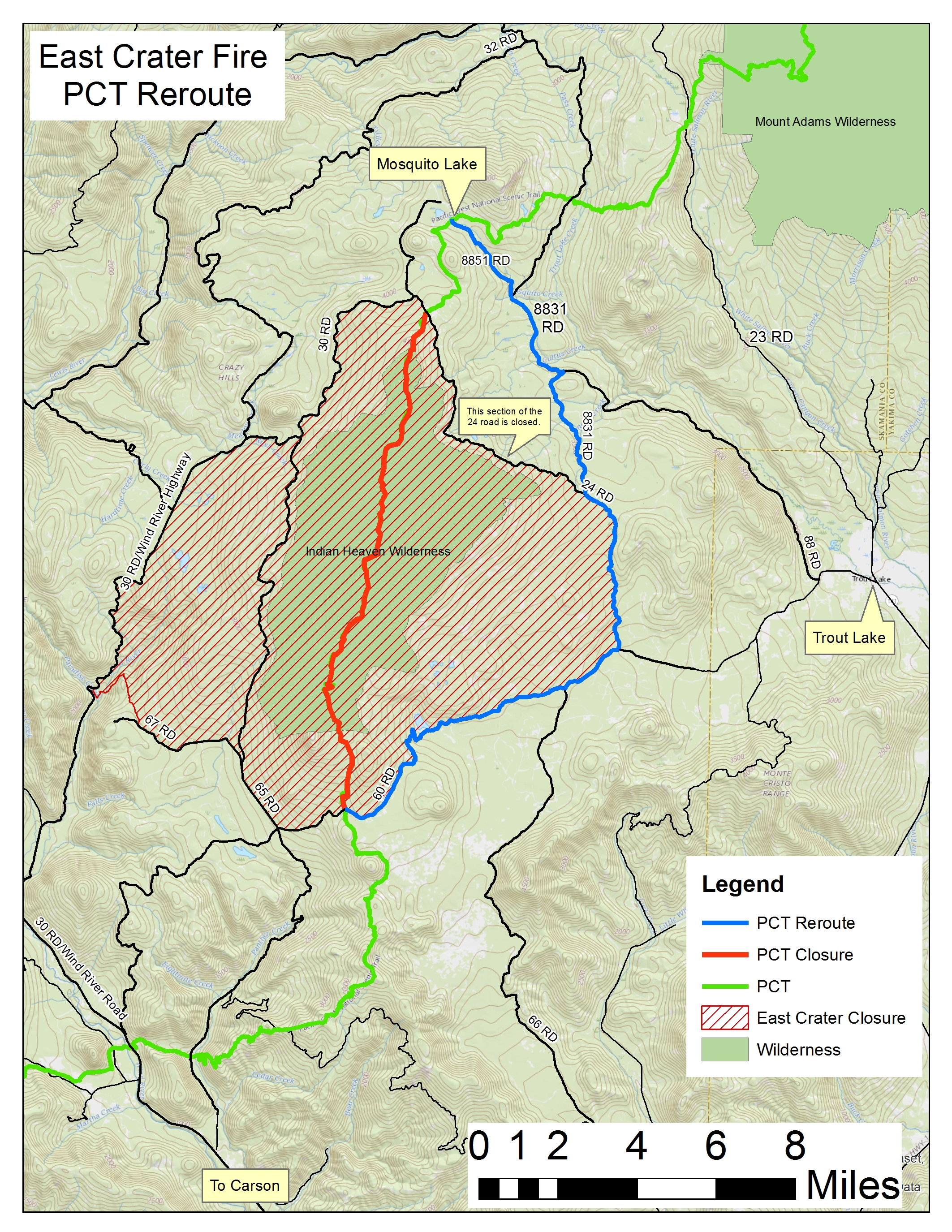 8 Closures on Pacific Crest Trail Due to Fire Right Now - SnowBrains