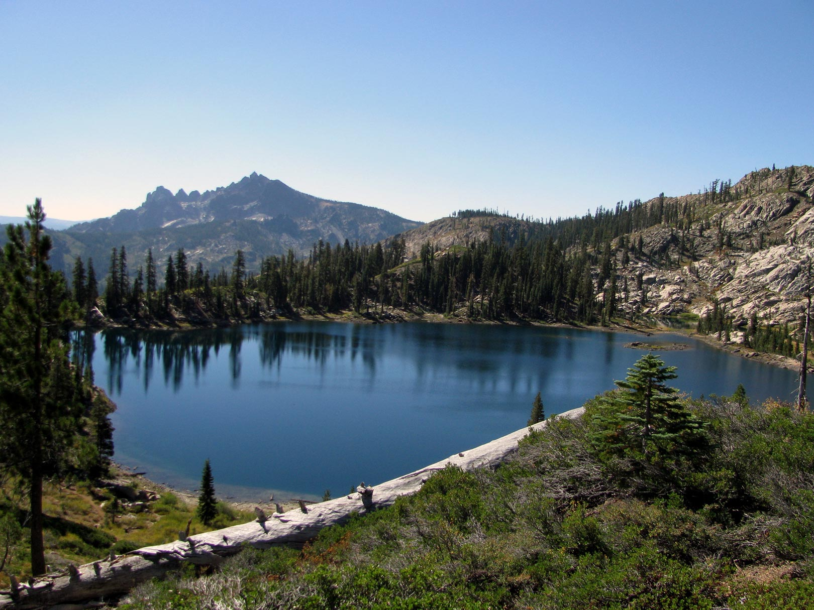 You'll have the chance to visit Deer Lake and take in the grand view of the Sierra Buttes.