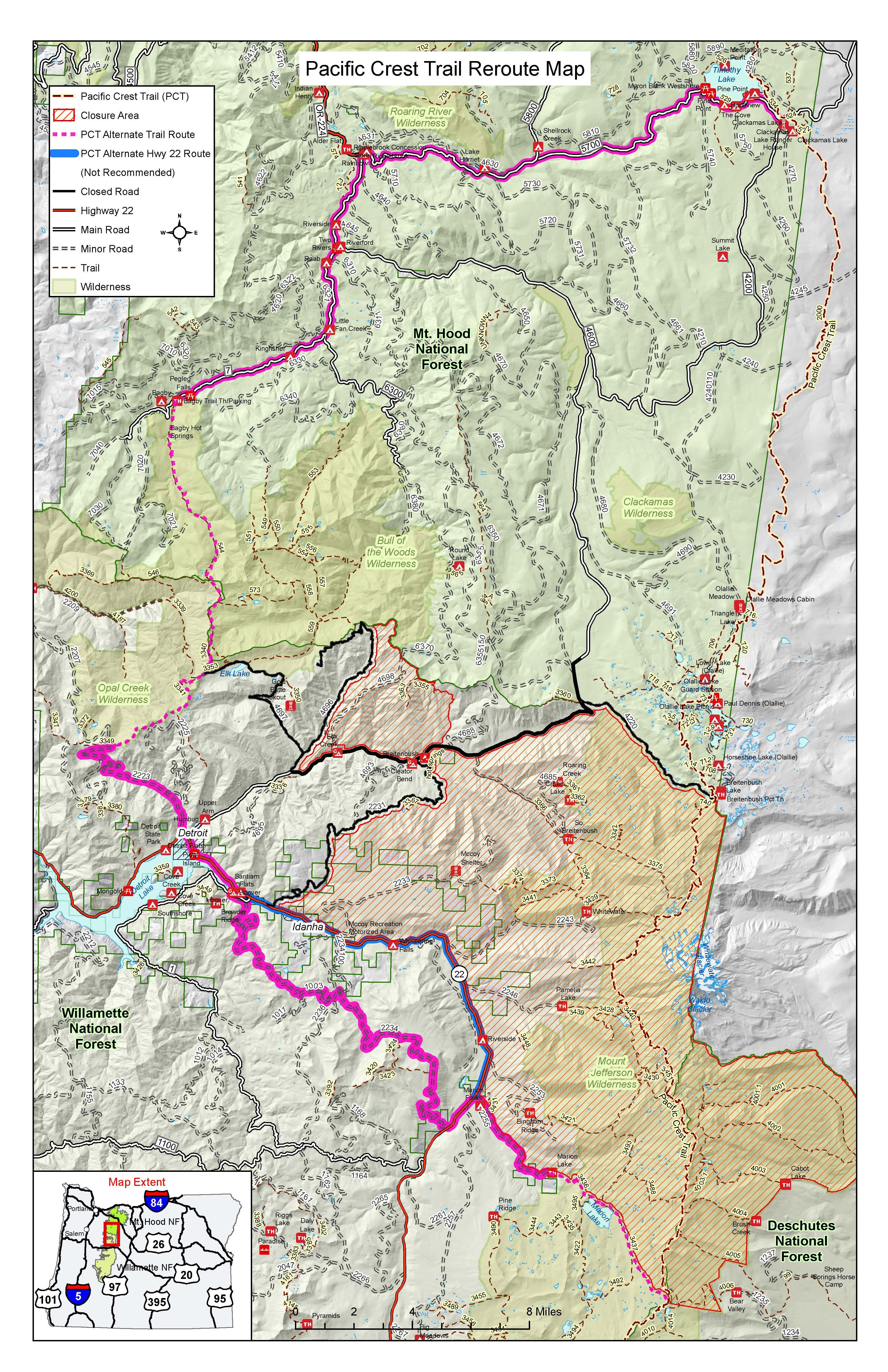 Trail Closure Archives - Pacific Crest Trail Association