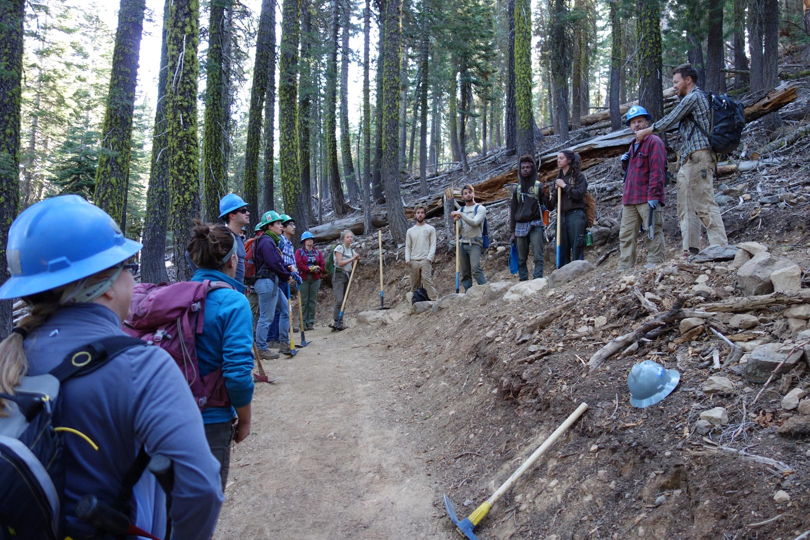 Heading out for a day of trail building in 2015. Photo by Jack Haskel