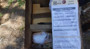 This is a pretty typical wilderness permit box. When you see something like this, please fill out a permit.