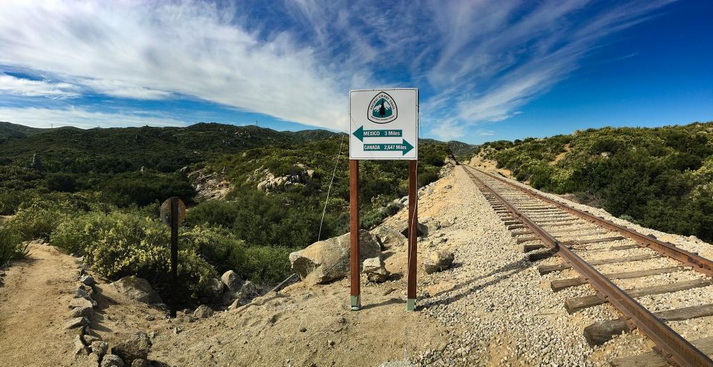 PCT sign near Campo, California