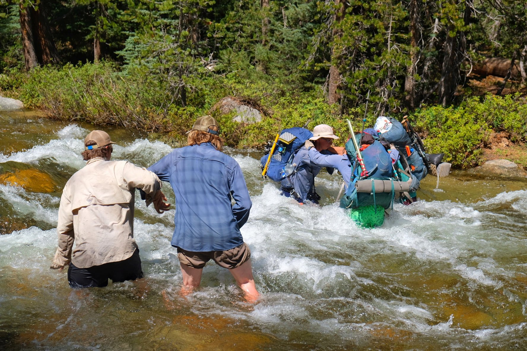 Stream crossing safety while hiking and backpacking