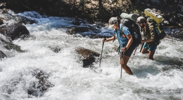 Stream crossing safety advice for hiking on the Pacific Crest Trail